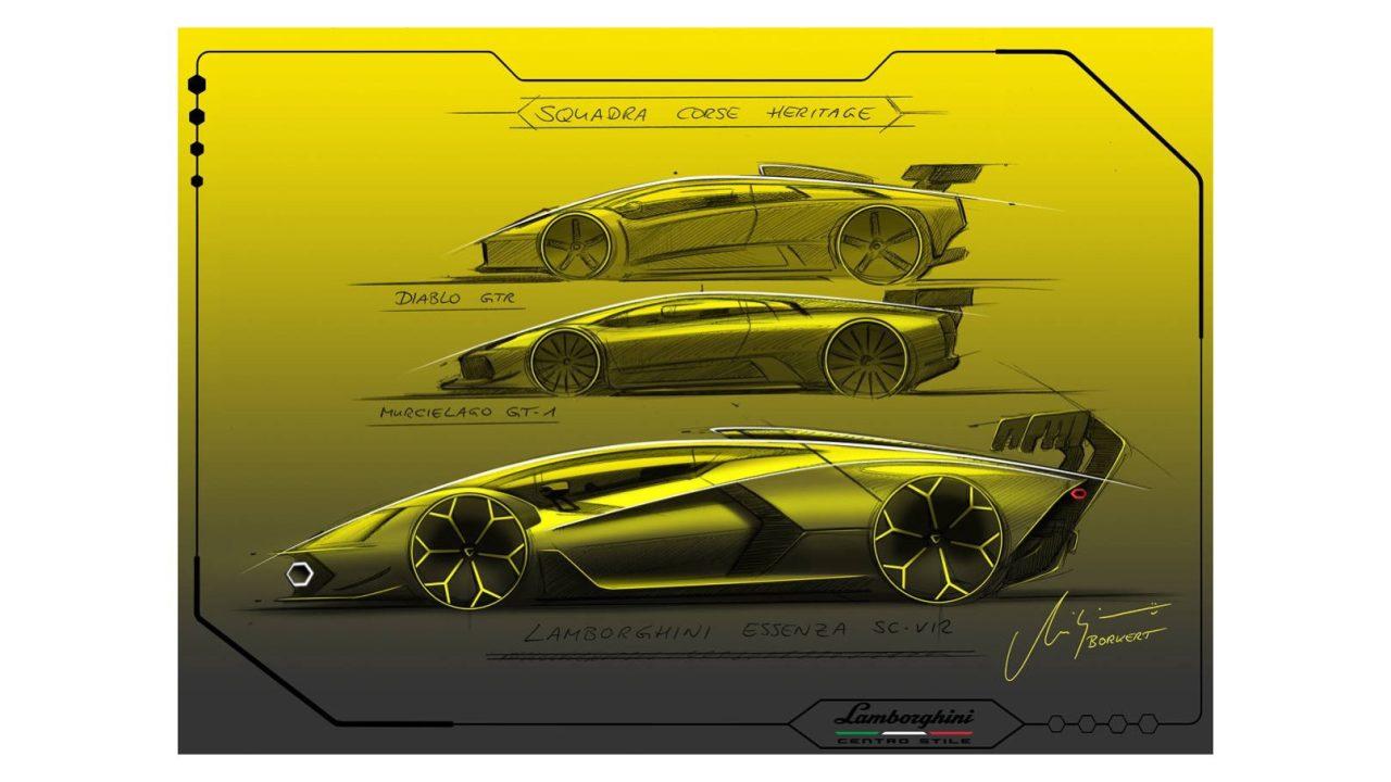 Lamborghini Essenza SCV12 Centro Stile Sketch (1)