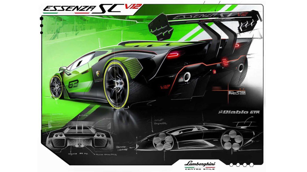 Lamborghini Essenza SCV12 Centro Stile Sketch (3)