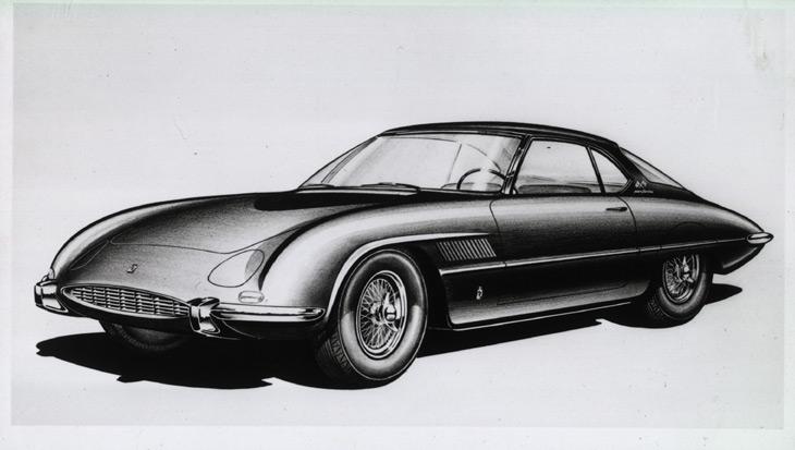 1960-Pininarina-Ferrari-Superfast-II-Design-Sketch-by-Aldo-Brovarone